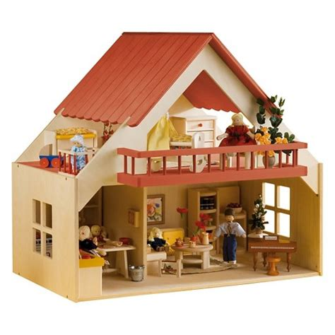wooden doll house singapore rulke wooden doll house with balcony target
