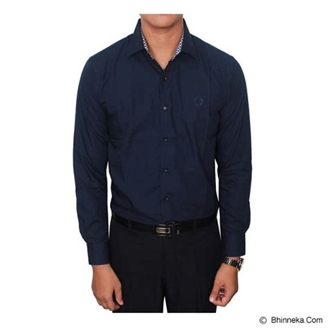 jual gudang fashion kemeja kantoran pria size xl lng 1415 xl biru tua kemeja lengan