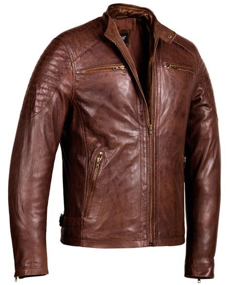 Brown Jacket cafe racer brown leather jacket mens genuine leather jackets