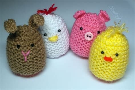 knitted creme egg knitted egg covers free pattern knitting