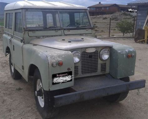 1960 land rover 88 series 2 series ii classic iconic for