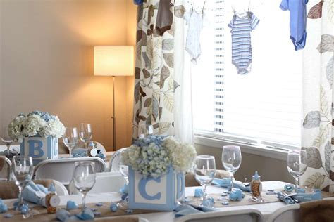 shabby chic boy baby shower party ideas photo 5 of 21