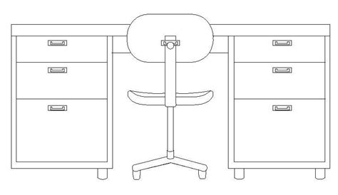 Office Desk Elevation Desk Elevation Cad Block Cadblocksfree Cad Blocks Free