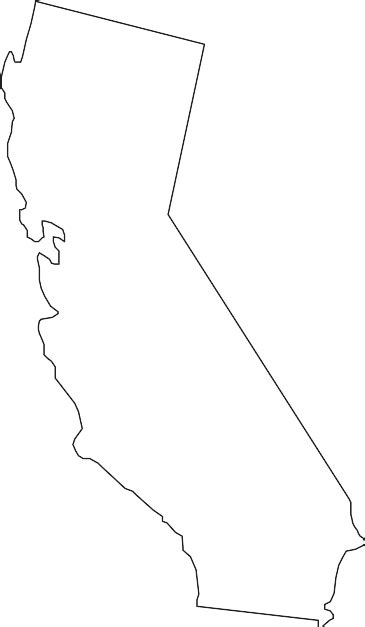 California Outline by Ca State Clip Cliparts