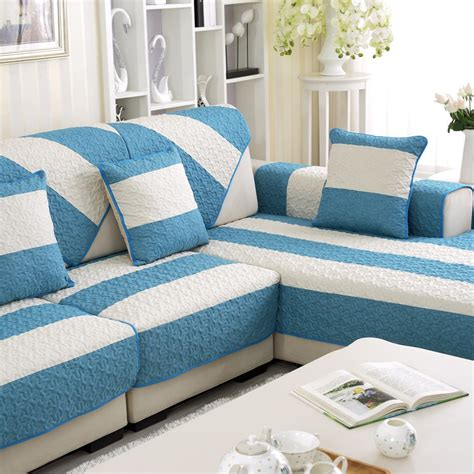 Where To Get Sofa Covers by Summer Linen Covers For Home Blue Pattern Sofa