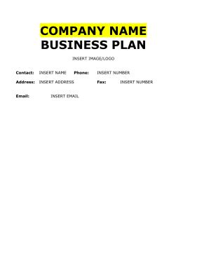 Farm Business Plan State Farm Business Plan Template