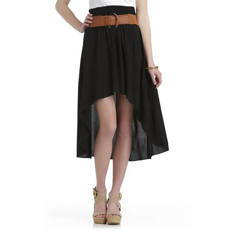 bongo junior s sizzler belted high low skirt
