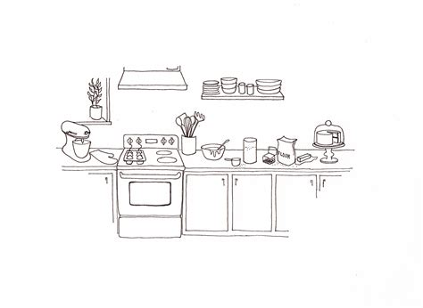 kitchen drawings a baker s kitchen blue print