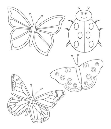 coloring pictures of butterflies and ladybugs ladybug and butterfly coloring pages kids coloring pages