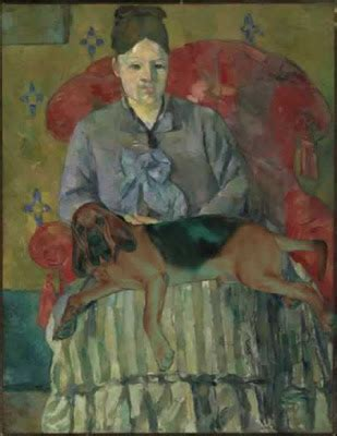 madame cezanne in a red armchair wimsey institute of houndish art