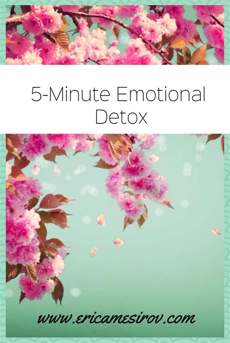 How To Do An Emotional Detox by A 5 Minute Emotional Detox To Cleanse Mentally Eat Lose