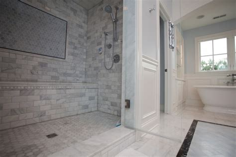 marble and subway tile bathroom calcutta gold marble subway tile contemporary bathroom
