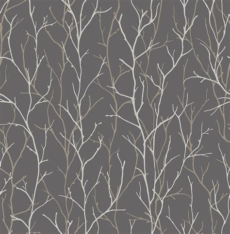 wallpaper grey twigs twig by iliv silver wallpaper direct