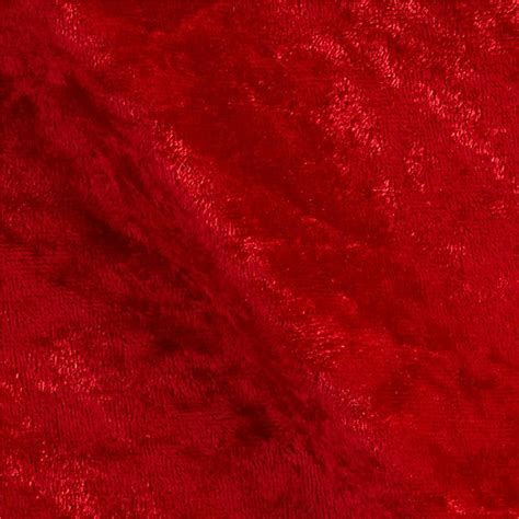 Stretch Panne Velvet Velour Red   Discount Designer Fabric