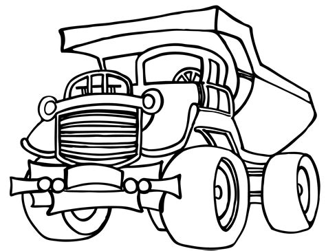 Compressing Garbage Truck On Dump Coloring Page Trash  sketch template