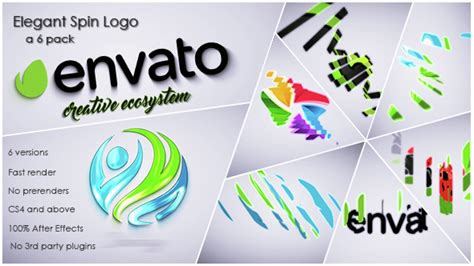 Elegant Spin Logo By Motiondominance Videohive Spinning Logo After Effects Template