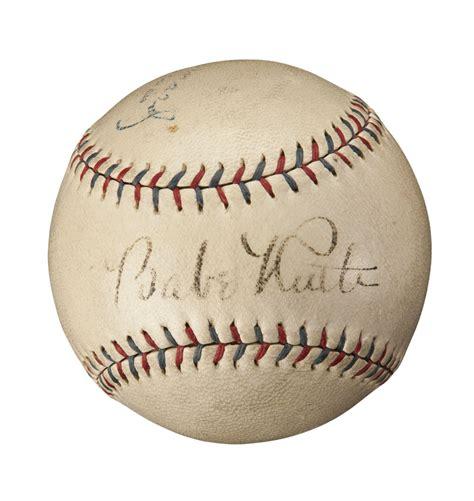 Lot Detail 1926 1933 Babe Ruth Single Signed Barnard Oal