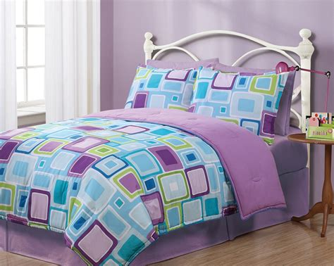 purple and blue comforter sets twin geo aqua square reversible comforter set