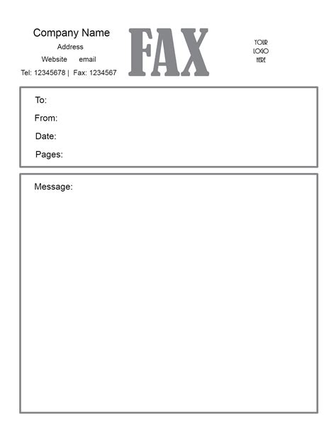 Fax Template Pdf by Fax Cover Sheet Pdf Free