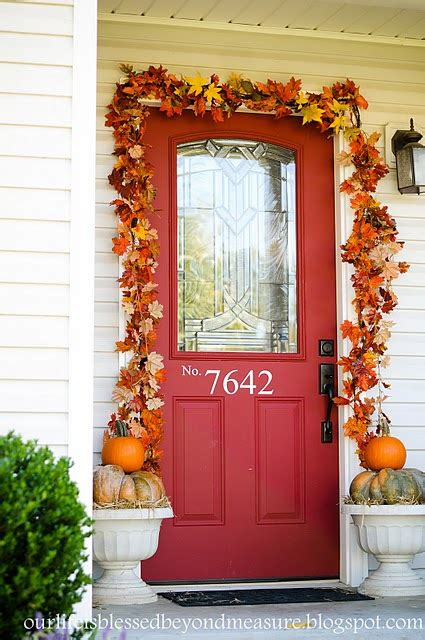 Fall Front Door Decorating Ideas Fall Front Porch Decorations For The Non Crafty