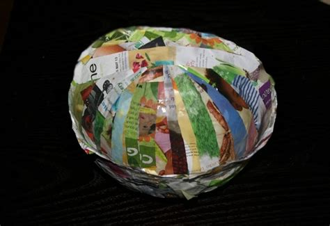 How To Make A Paper Bowl - diy recycled paper bowl paste inhabitots