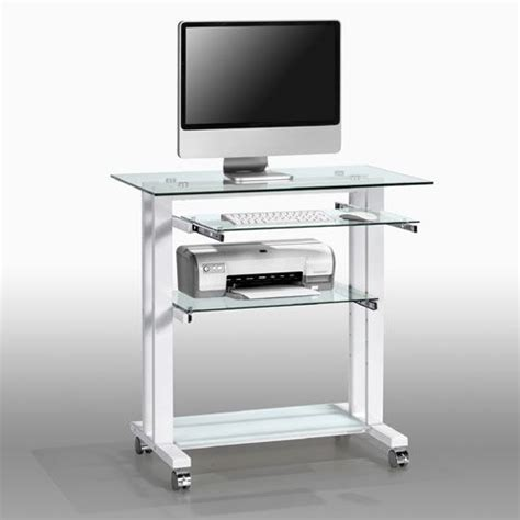 Small White Computer Desk Uk by Maja Glass Mobile Laptop Computer Desk 1650 Home