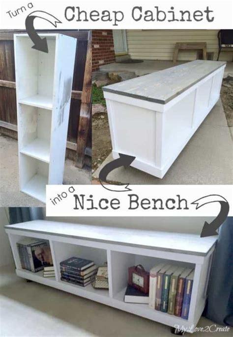 bookcase bench diy diy storage bench seat