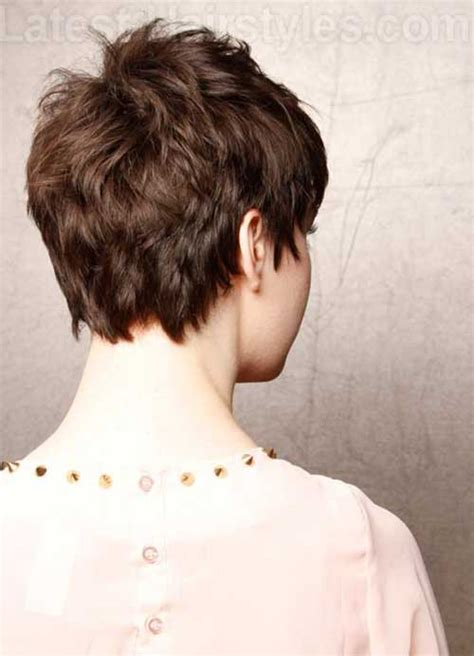 front and back views of chopped hair pixie haircut back view the best short hairstyles for