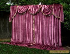 Antique Velvet Curtains Apt German Velvet Vintage Curtains Swags Tails