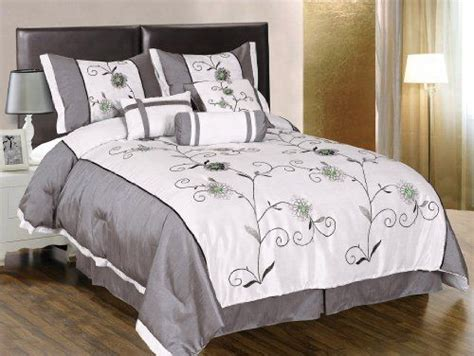 grey and green comforter grey and white bedding decorating pinterest
