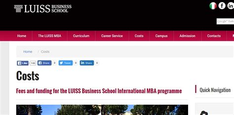 Mba Scholarship 2017 by Luiss Business School Mba Scholarship For 2017