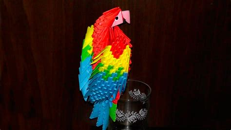 3d origami macaw 3d origami macaw parrot tutorial
