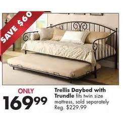 Daybed Big Lots Trellis Daybed W Trundle At Big Lots Black Friday 2013