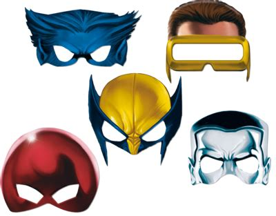 cyclops mask template masks so you can be wolverine or cyclops or beast
