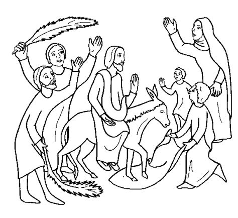 coloring pages jesus enters jerusalem free coloring pages of triumphal entry of jesus