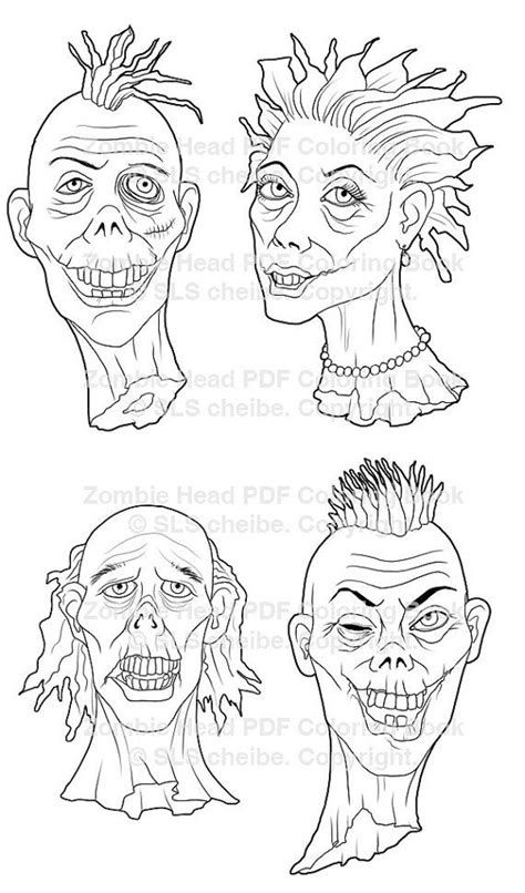 zombie coloring pages pdf 17 images about adult horror coloring pages on pinterest