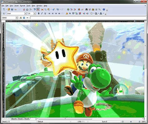 Bros Ms 07 amazing mario and drawings in microsoft excel pics