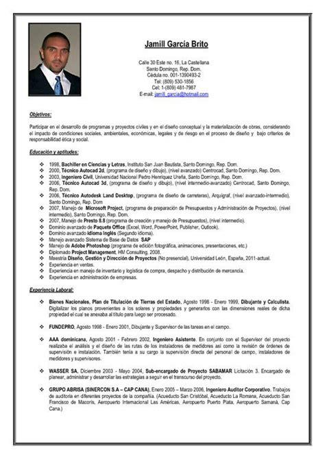 Modelo Curriculum Dominicano como escribir un curr 237 culum vitae ejecutivo ejemplos de