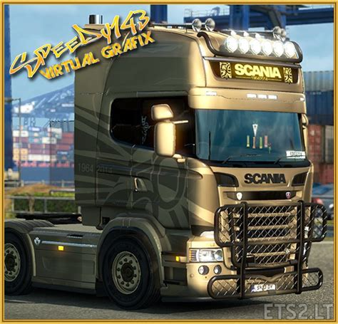 golden trucks golden griffin scania rjl euro truck simulator 2 free