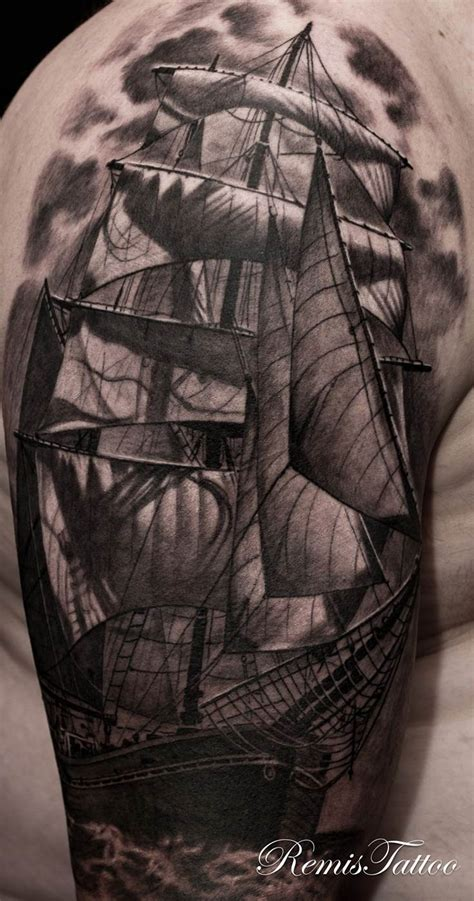 boat tattoos designs sailing ship remis