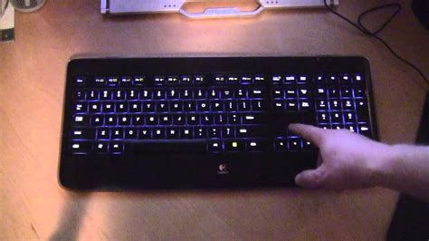 light up wireless mouse logitech k800 wireless illuminated keyboard in action
