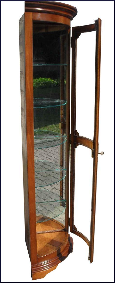 mobili cristallo angoliera bombata con specchi e ripiani cristallo la
