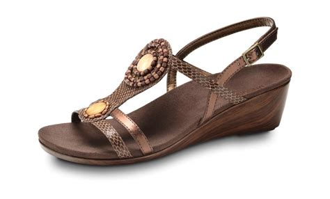 orthaheel wedge sandals vionic s orthaheel wedge sandal orthotic shop