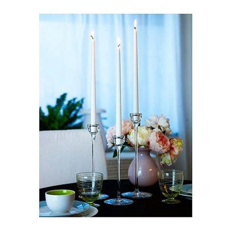 candelabro juego blomster candelabro juego de 3 vidrio incoloro ikea