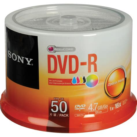Printable Dvd sony dvd r 4 7 gb white inkjet printable recordable