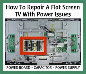 lg tv wont turn on light repair a flat screen lcd tv with power issues power