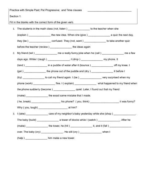 Adverb Clause Worksheet by Adverbial Clause Worksheet Bluegreenish