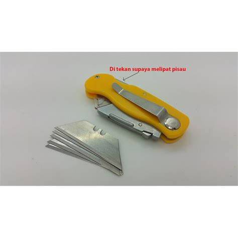 Pisau Cutter folding cutter knife foldable knife pisau lipat