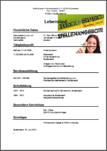 Lebenslauf Vorlage Schweiz Schüler Lebenslauf1 Png