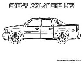 free coloring pages of chevy truck